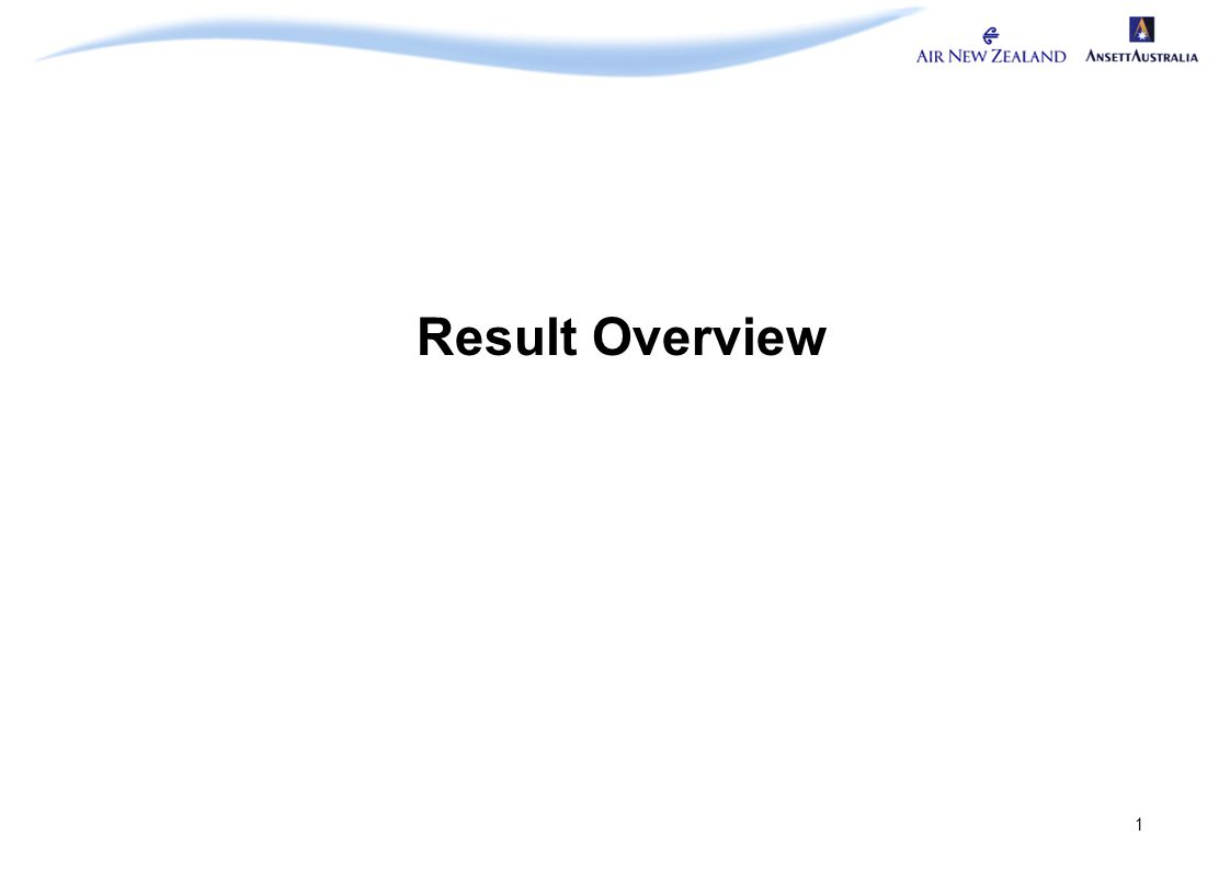 1 Result Overview
