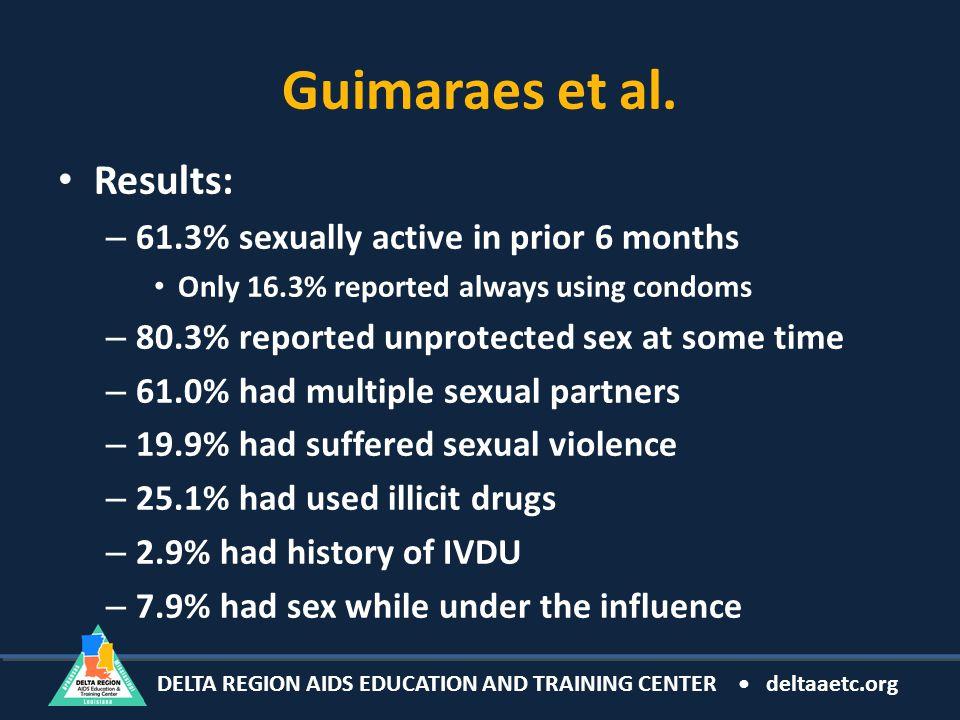 DELTA REGION AIDS EDUCATION AND TRAINING CENTER deltaaetc.org Guimaraes et al.