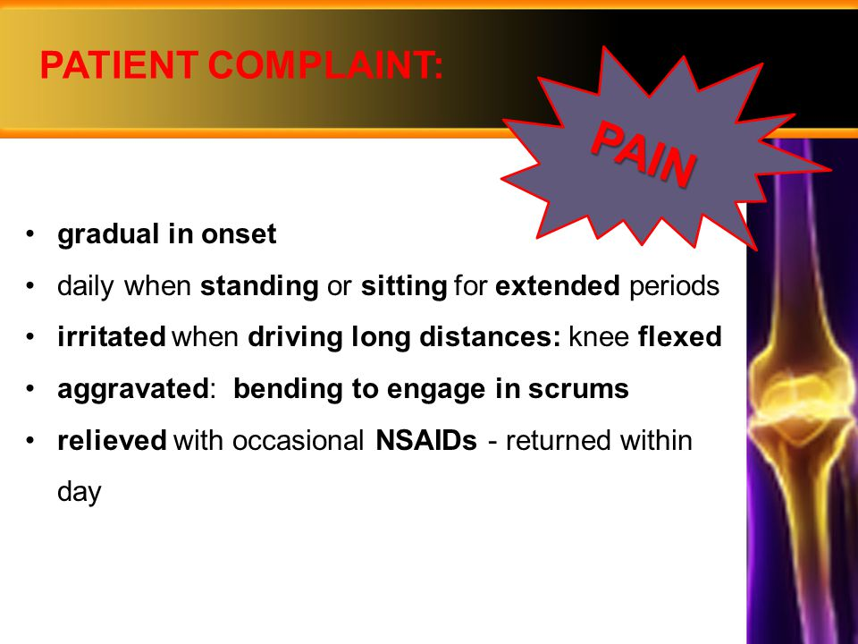  diagnosed incidentally: no treatment  advice: small risk of rupture seek medical advice if symptomatic  diagnosed incidentally: no treatment  advice: small risk of rupture seek medical advice if symptomatic MANAGEMENT  prevention not possible  advice on activities: regular exercise and weight Mx for OA no squatting, kneeling, heavy lifting, climbing  prevention not possible  advice on activities: regular exercise and weight Mx for OA no squatting, kneeling, heavy lifting, climbing