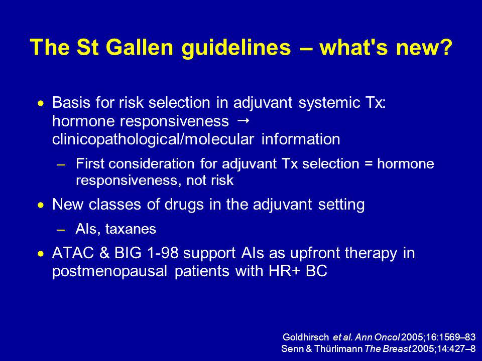 The St Gallen guidelines – what s new.