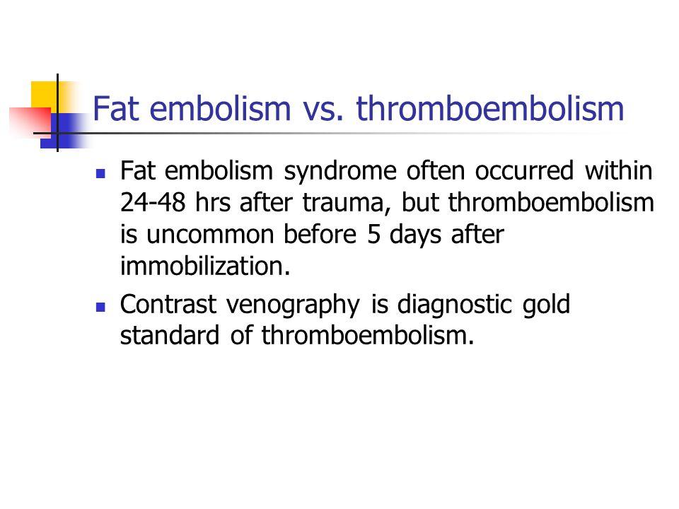 Fat embolism vs.