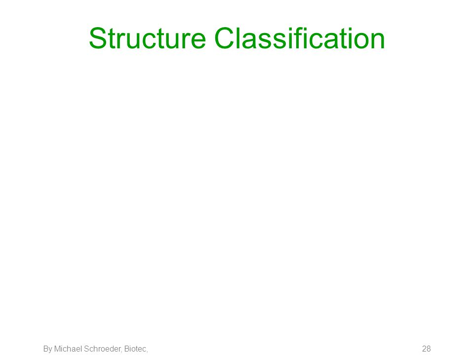 By Michael Schroeder, Biotec, 28 Structure Classification