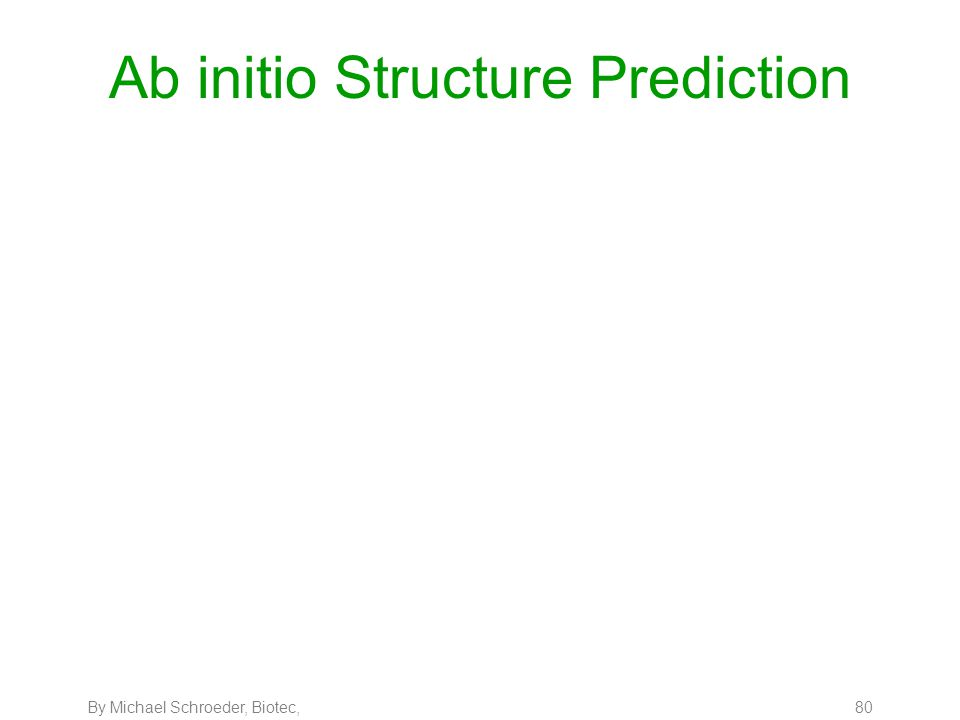 By Michael Schroeder, Biotec, 80 Ab initio Structure Prediction
