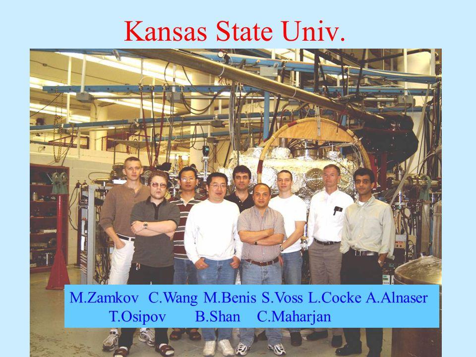 Kansas State Univ. M.Zamkov C.Wang M.Benis S.Voss L.Cocke A.Alnaser T.Osipov B.Shan C.Maharjan
