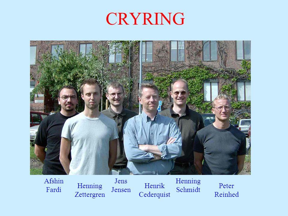 CRYRING Afshin Fardi Jens Jensen Henning Schmidt Henning Zettergren Peter Reinhed Henrik Cederquist