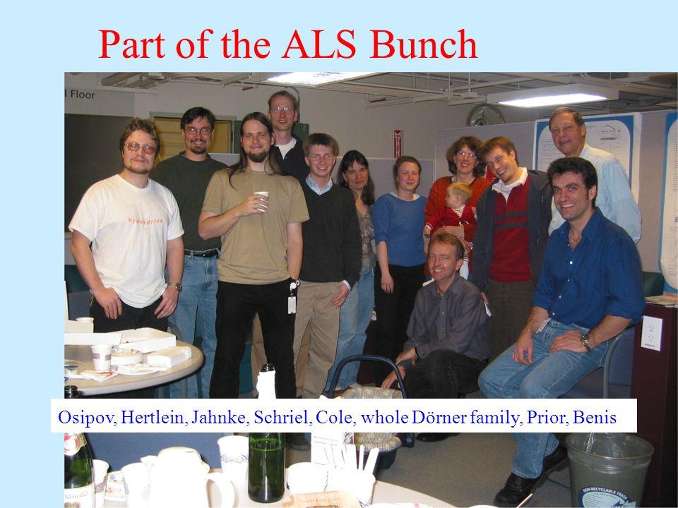 Part of the ALS Bunch Osipov, Hertlein, Jahnke, Schriel, Cole, whole Dörner family, Prior, Benis