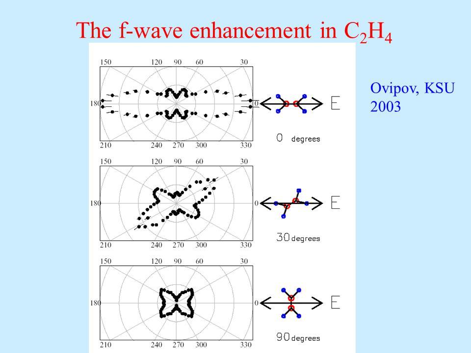 The f-wave enhancement in C 2 H 4 Ovipov, KSU 2003