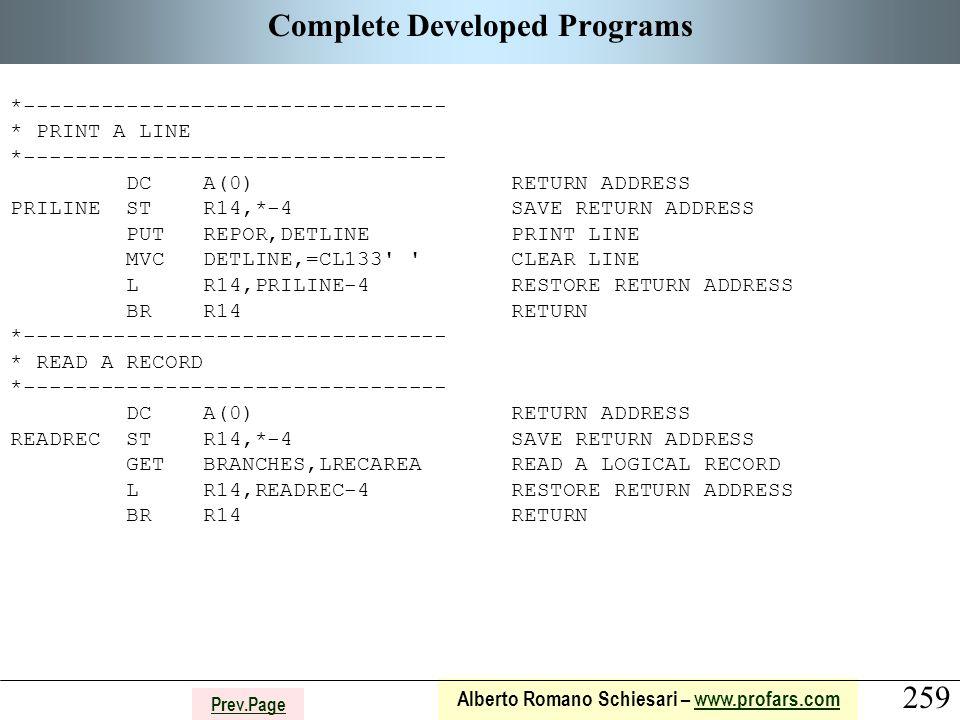 259 Alberto Romano Schiesari – www.profars.comwww.profars.com Prev.Page Complete Developed Programs *--------------------------------- * PRINT A LINE