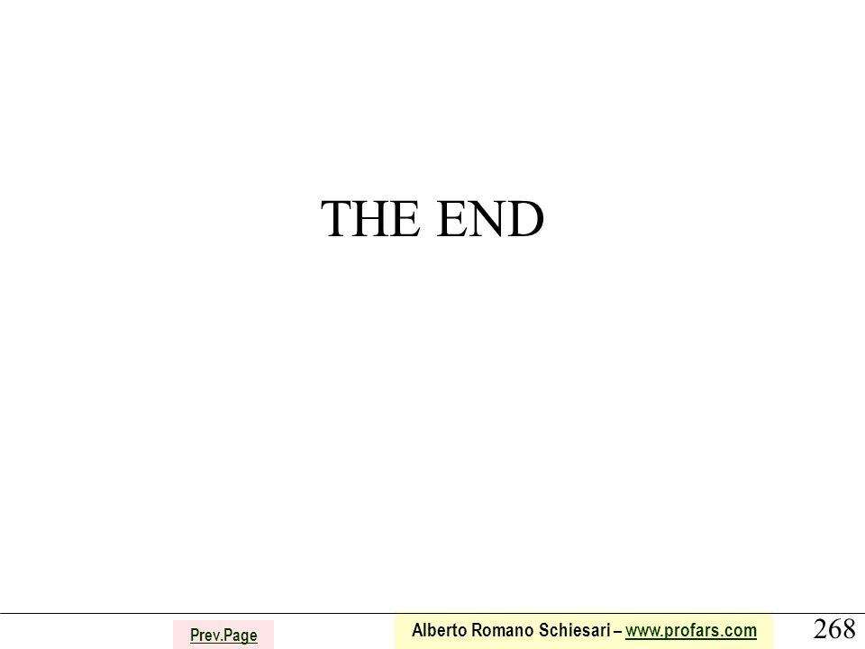 268 Alberto Romano Schiesari – www.profars.comwww.profars.com Prev.Page THE END
