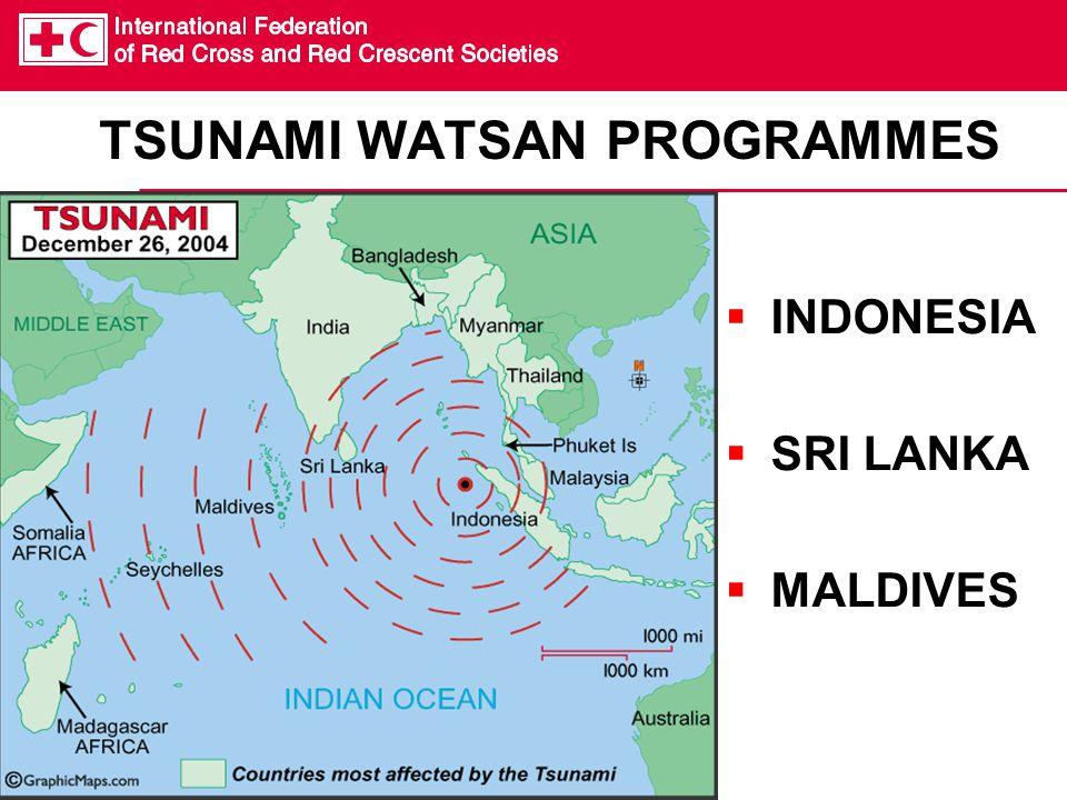 TSUNAMI WATSAN PROGRAMMES  INDONESIA  SRI LANKA  MALDIVES