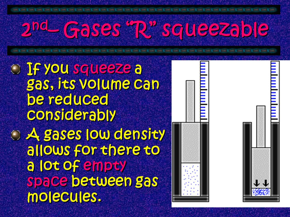 The Kinetic-Molecular theory explanation of it is that we assume that gases are composed of a collection of particles. You can't see these particles d