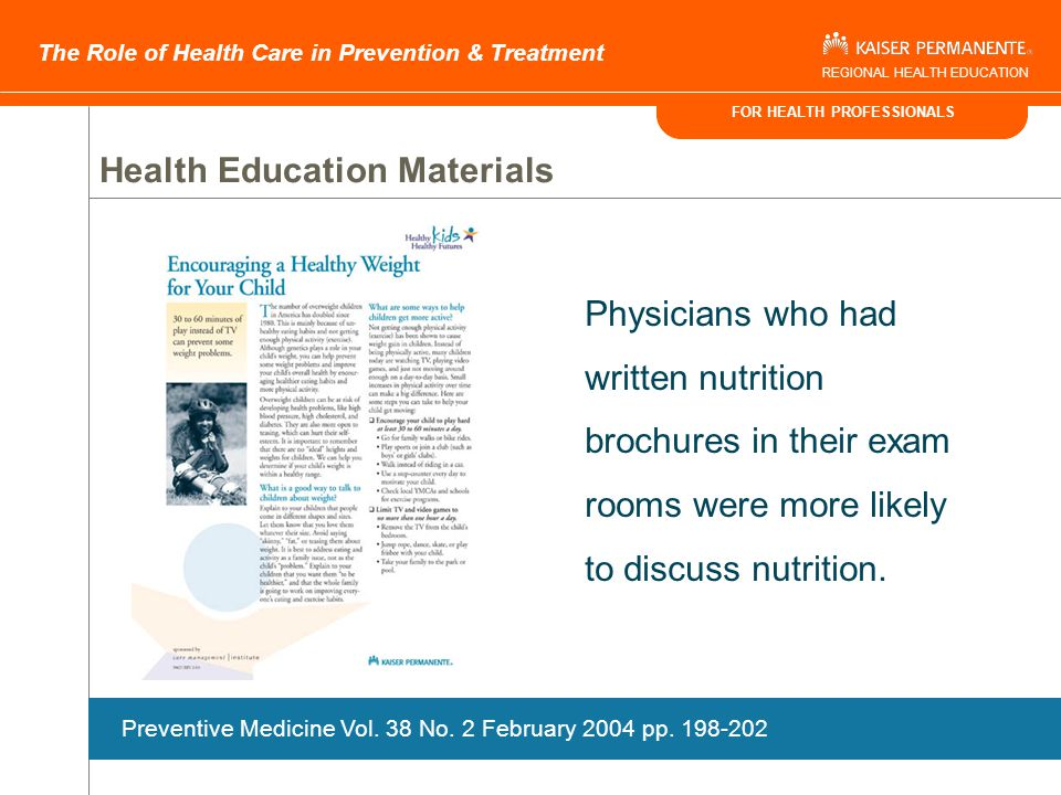 FOR HEALTH PROFESSIONALS The Role of Health Care in Prevention & Treatment REGIONAL HEALTH EDUCATION Get More Energy! Poster 4 Key Messages Readiness
