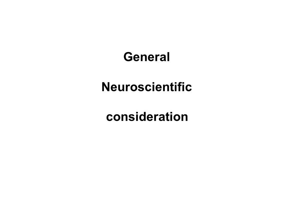 General Neuroscientific consideration