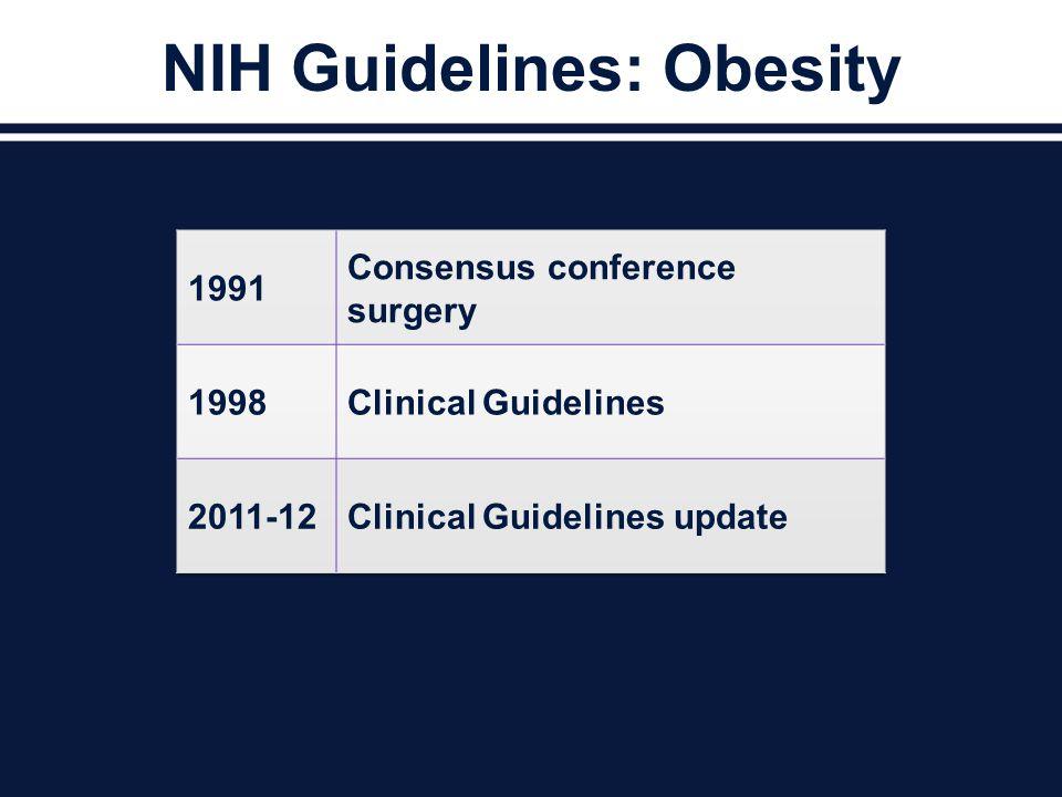 NIH Guidelines: Obesity