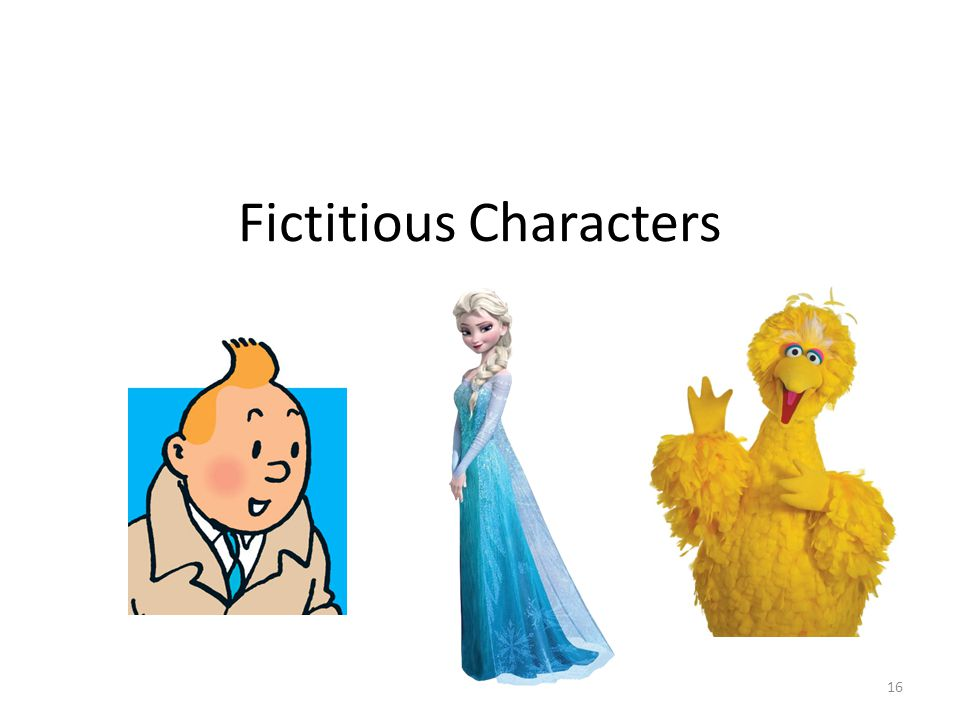 Fictitious Characters 16