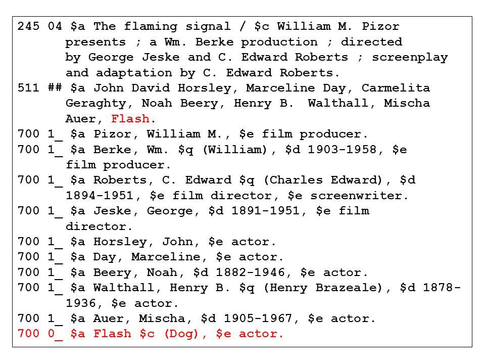 245 04 $a The flaming signal / $c William M. Pizor presents ; a Wm.