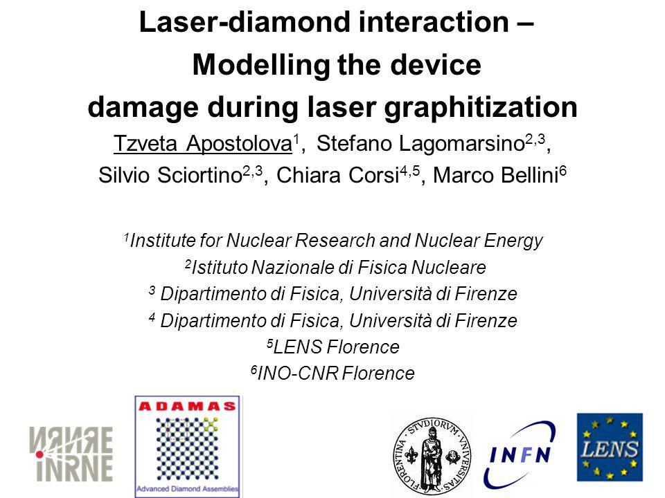 Motivation Laser engineering of diamond for writing conductive paths is an important subject of research for its application in radiation detection (3D detectors)[1,2].