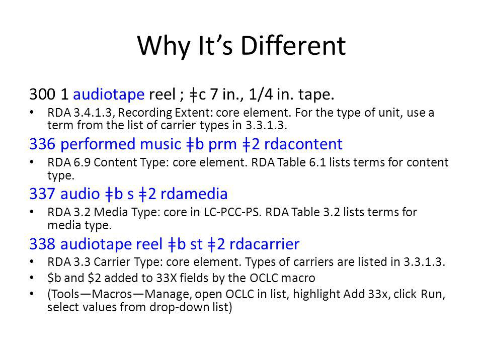 Why It's Different 300 1 audiotape reel ; ǂc 7 in., 1/4 in.
