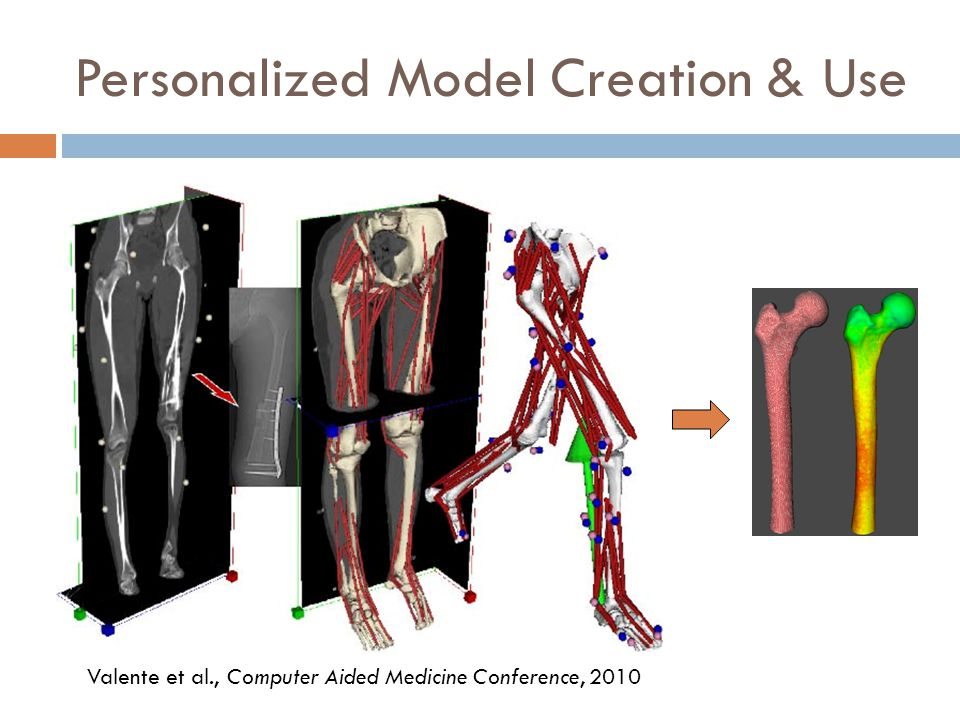 Personalized Model Creation & Use Valente et al., Computer Aided Medicine Conference, 2010