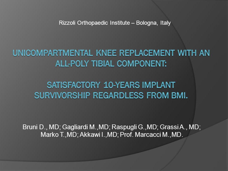 Bruni D., MD; Gagliardi M.,MD; Raspugli G.,MD; Grassi A., MD; Marko T.,MD; Akkawi I.,MD; Prof.