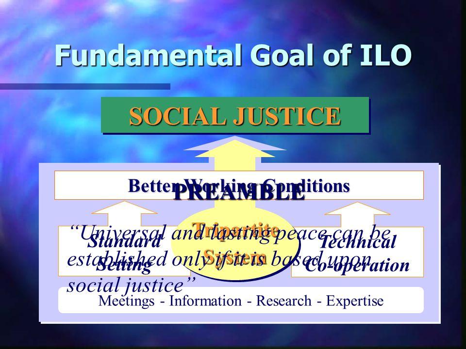 2.Fundamental Goal and Principle of ILO