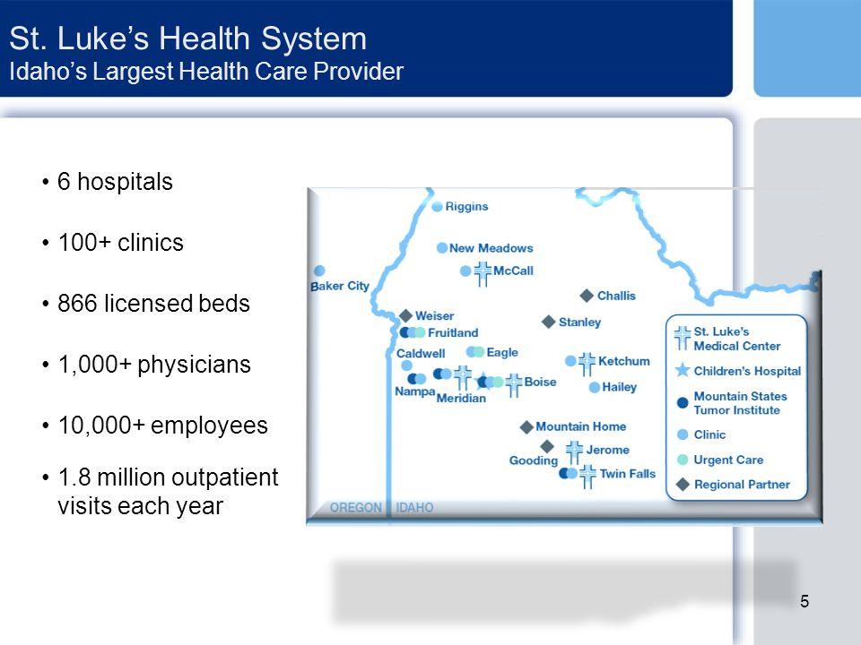 St.Luke's Health System – A Community Asset St. Luke's is community-owned.