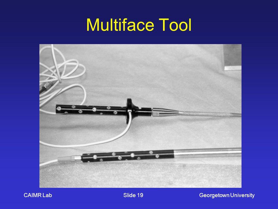 CAIMR LabGeorgetown UniversitySlide 19 Multiface Tool