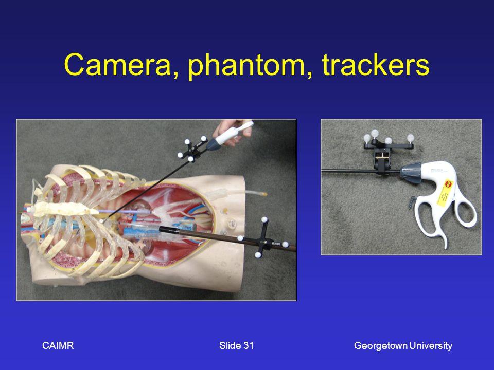 Camera, phantom, trackers CAIMRGeorgetown UniversitySlide 31