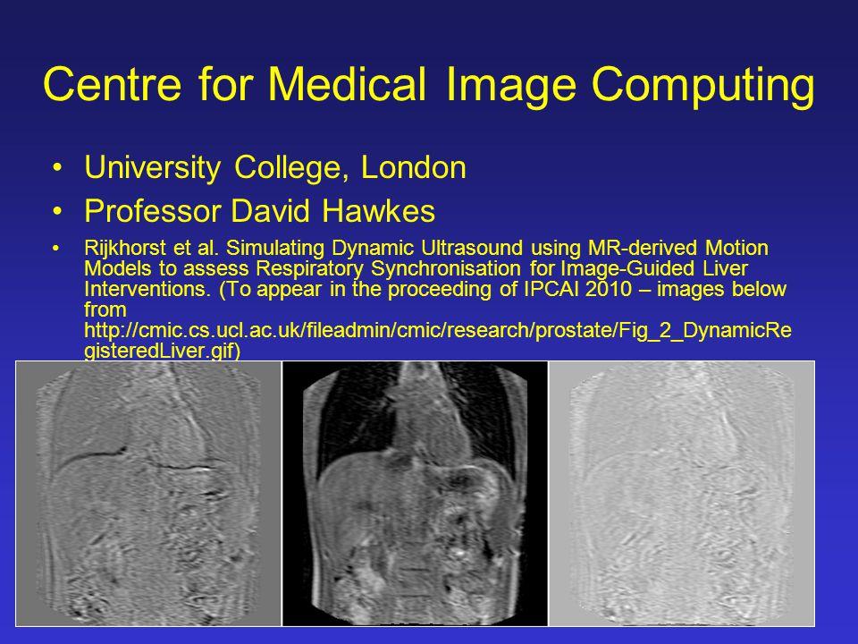 Centre for Medical Image Computing University College, London Professor David Hawkes Rijkhorst et al.