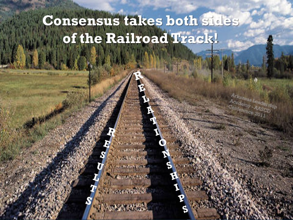 Consensus takes both sides of the Railroad Track.