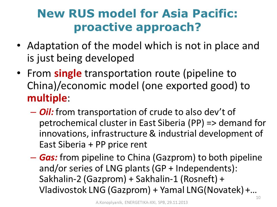 New RUS model for Asia Pacific: proactive approach? Adaptation of the model which is not in place and is just being developed From single transportati