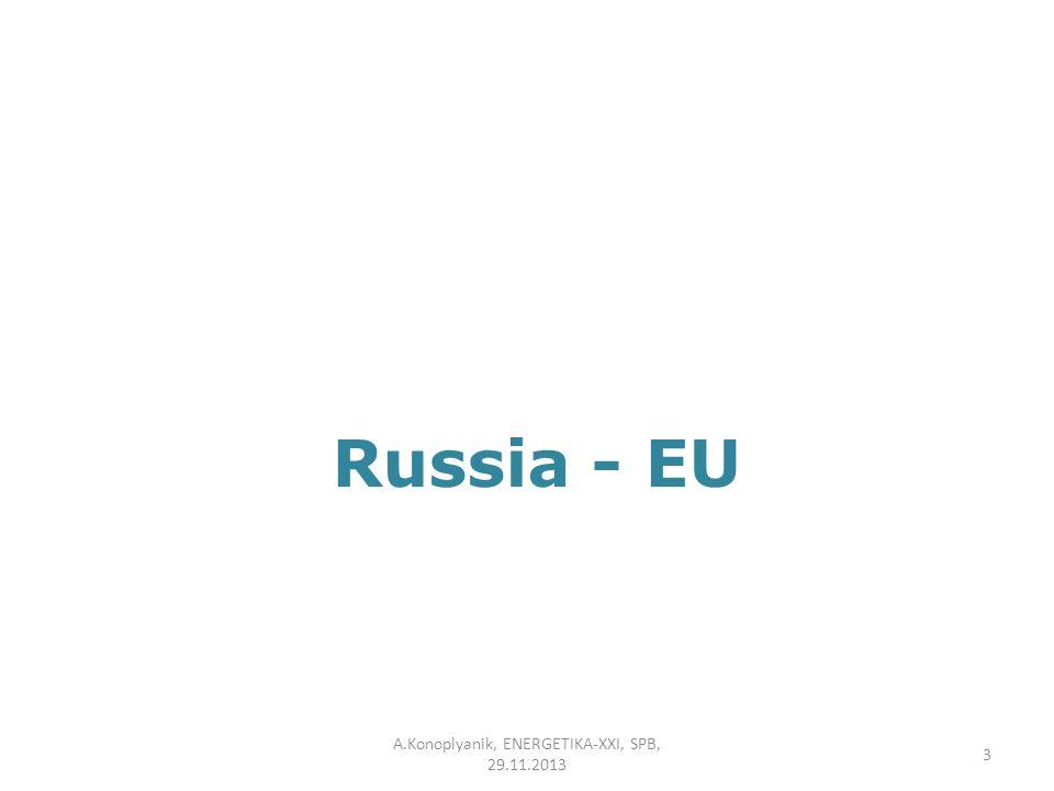Russia - EU A.Konoplyanik, ENERGETIKA-XXI, SPB, 29.11.2013 3