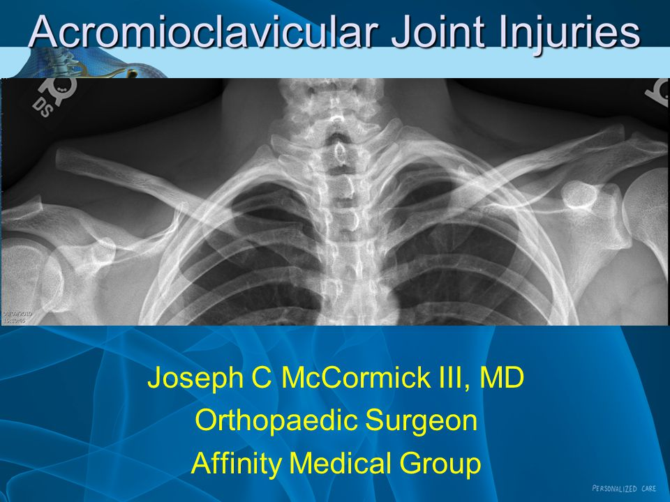 Joseph C McCormick III, MD Orthopaedic Surgeon Affinity Medical Group