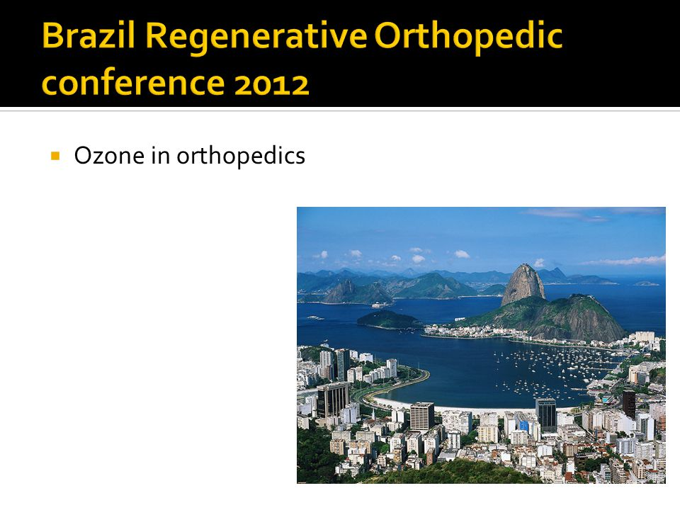  I have used ozone in combination with a number of refractory PRP OA Pts in joints with outstanding results.