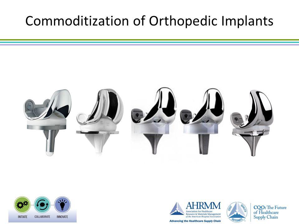 Commoditization of Orthopedic Implants