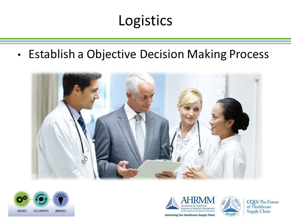 Logistics Establish a Objective Decision Making Process