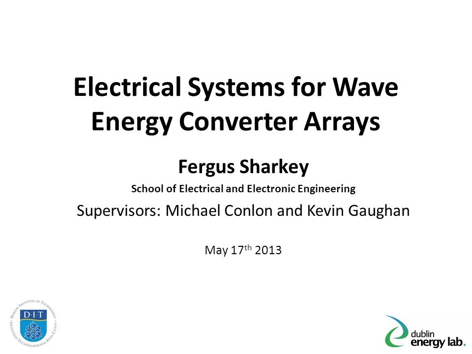 Outline Introduction and Motivation for Research Wave Energy, Wave Energy Converters and Arrays Challenges for WEC Array electrical systems Techno-economic optimisation and design tools Publications Future Research Conclusions