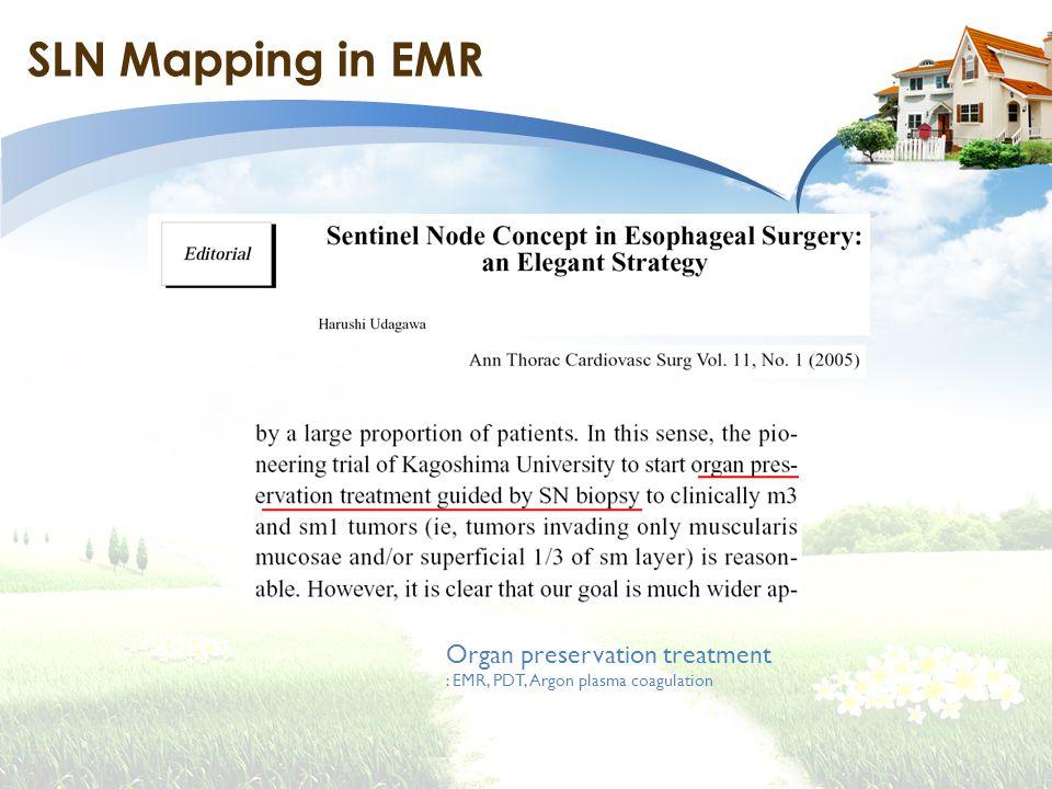 SLN Mapping in EMR Organ preservation treatment : EMR, PDT, Argon plasma coagulation