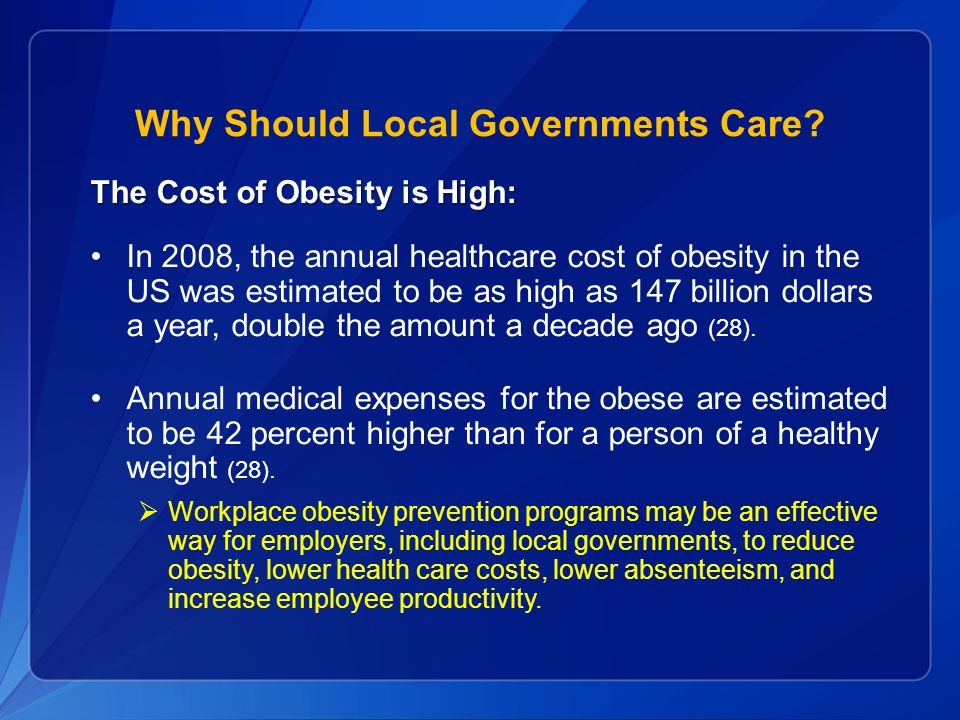 Why Should Local Governments Care.