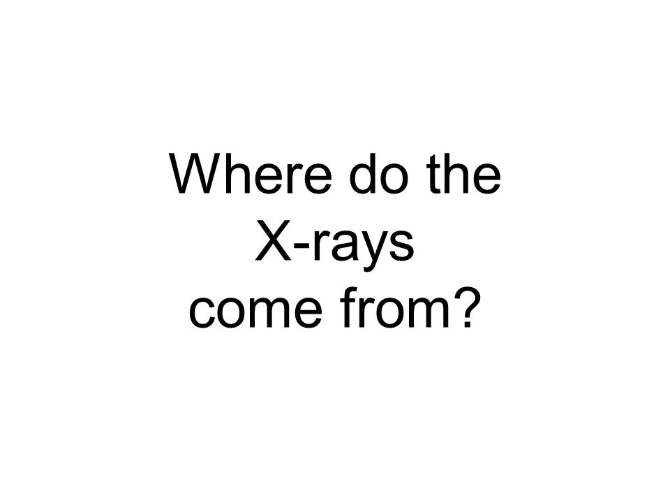 Where do the X-rays come from