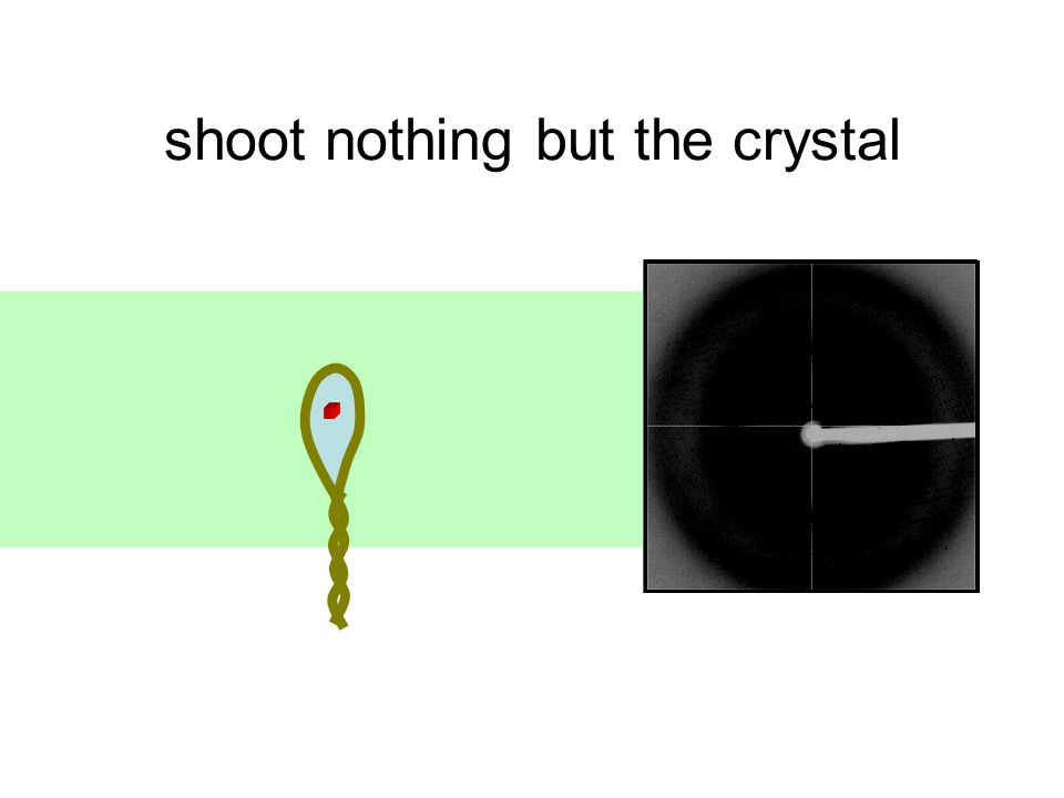 shoot nothing but the crystal