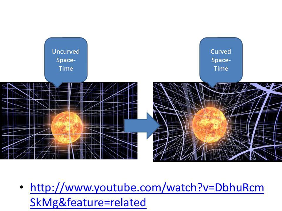 http://www.youtube.com/watch v=DbhuRcm SkMg&feature=related http://www.youtube.com/watch v=DbhuRcm SkMg&feature=related Uncurved Space- Time Curved Space- Time