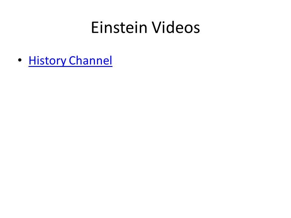 Einstein Videos History Channel