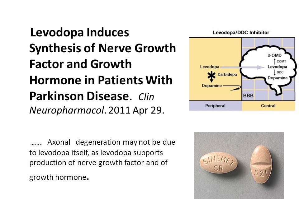 Levodopa Induces Synthesis of Nerve Growth Factor and Growth Hormone in Patients With Parkinson Disease.