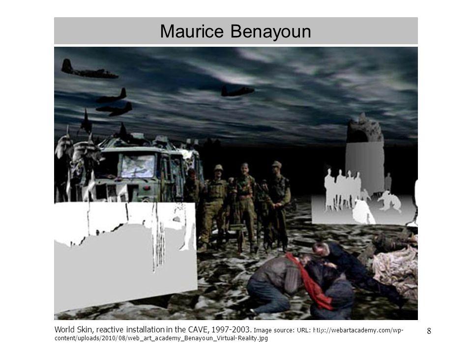8 Maurice Benayoun World Skin, reactive installation in the CAVE, 1997-2003.