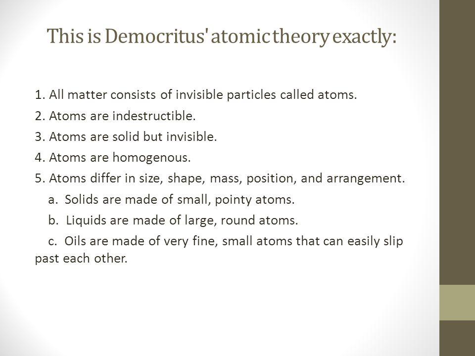 Dalton's atomic theory: 1.