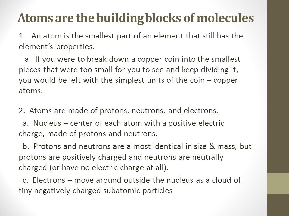 Size of atoms *If you enlarged an Atom to the size of a football stadium, then the nucleus would be the size of a small marble!