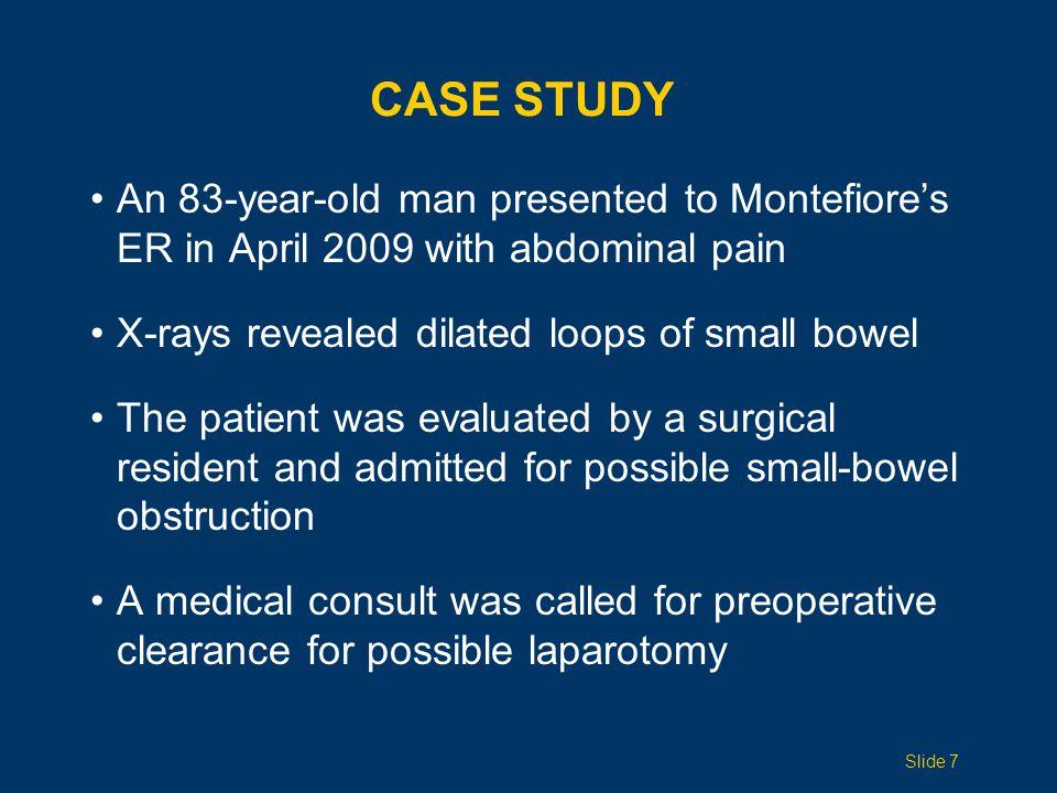 PERIOPERATIVE COMPLICATIONS 30-Day Mortality by Type of Operation <80 years old>80 years old All operations2.8%8.2% General surgery 4.3%11.4% Vascular surgery 4.1%9.4% Thoracic surgery 6.3%13.5% Orthopedic surgery 1.2%8.3% Surgical Morbidity <80 years old>80 years old > 1 complication12.1%20% Pneumonia2.3%5.6% UTI2.2%5.6% Required intubation1.6%2.8% Progressive renal failure 0.4%1.0% Myocardial infarction 0.4%1.0% Cardiac arrest0.9%2.1% Hamel JAGS 2005 Slide 18