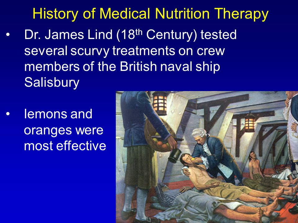 History of Medical Nutrition Therapy Dr.