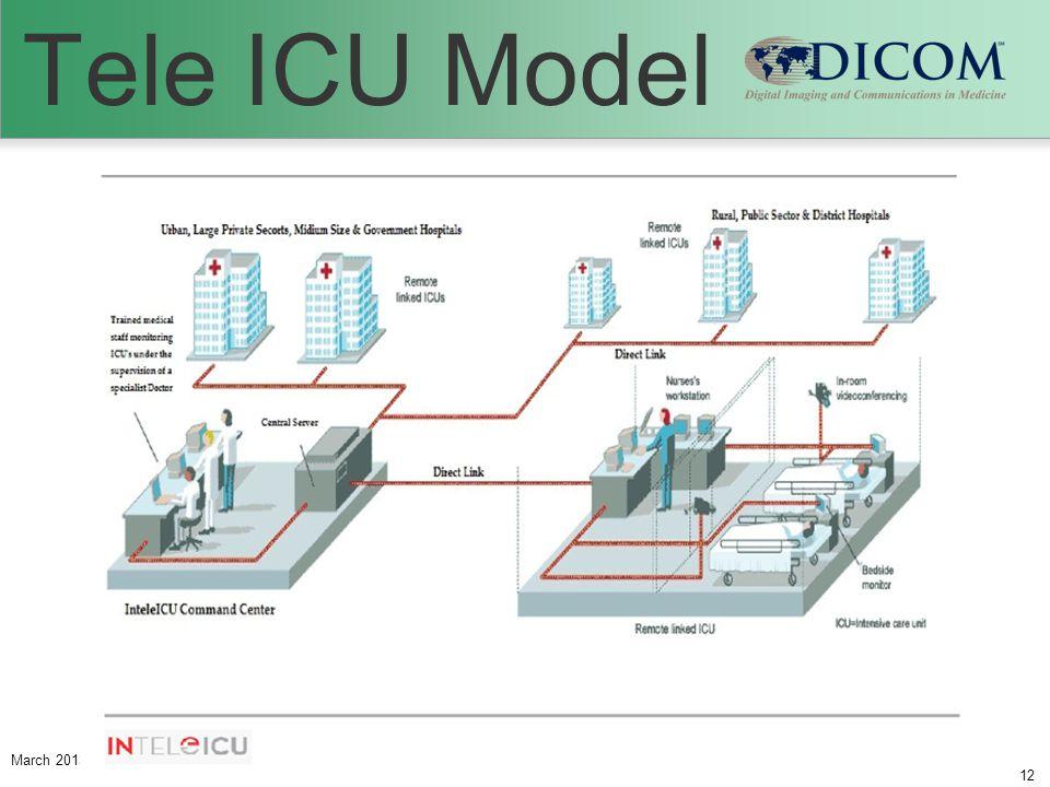 March 2013 DICOM International Conference & SeminarTitle of Presentation (may abbreviate but identify the presentation.) 12 Tele ICU Model